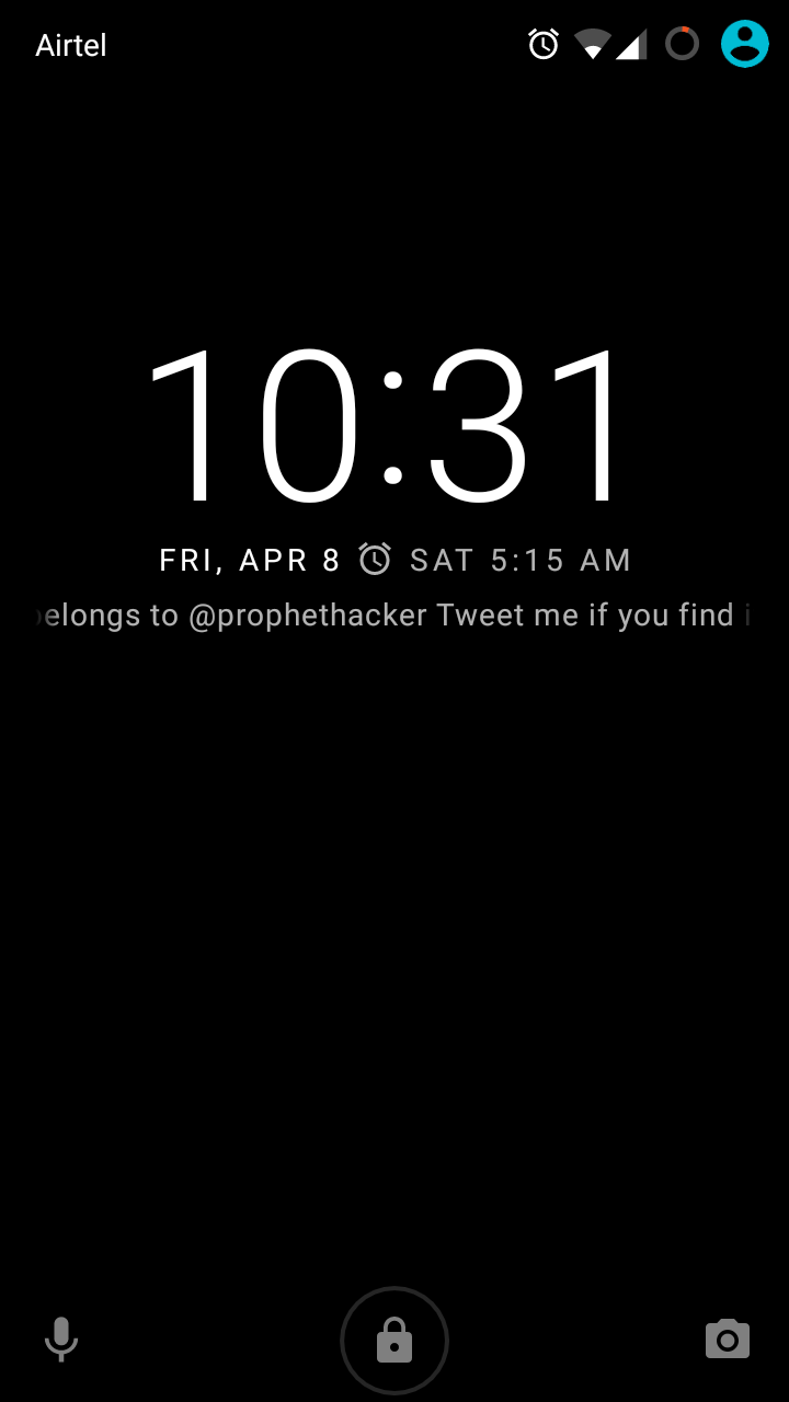 Owner screen info in Locks creen- Android Marshmallow