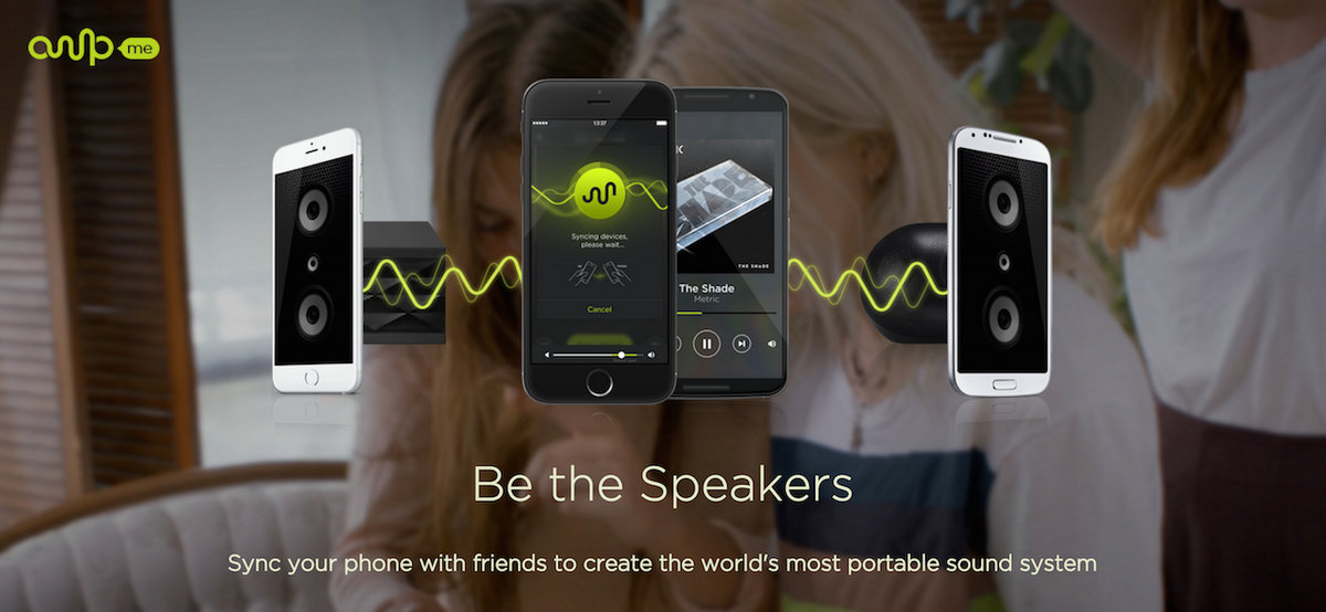 Turn multiple smartphones into a single, powerful speaker system with this app- AmpMe