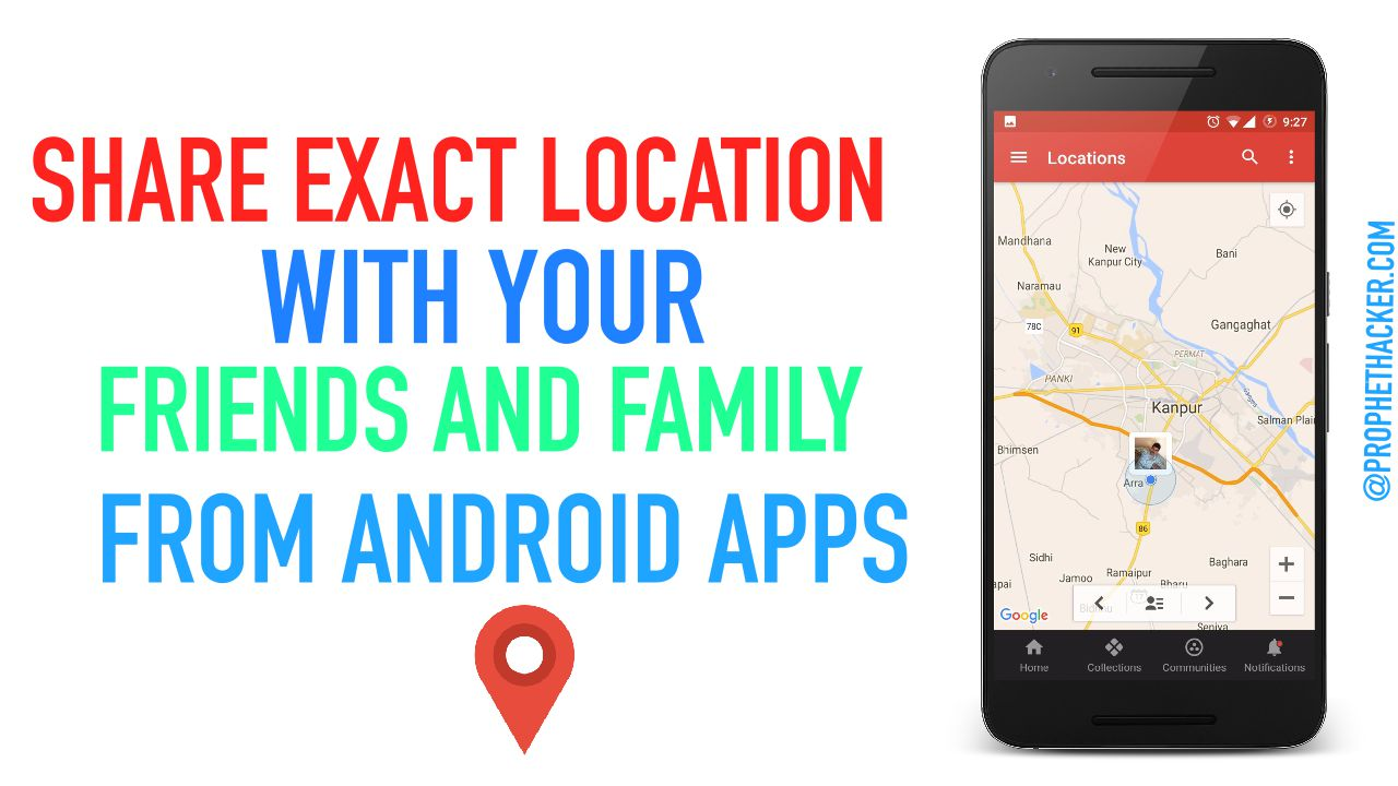 Share your Location with your Friends using Android App