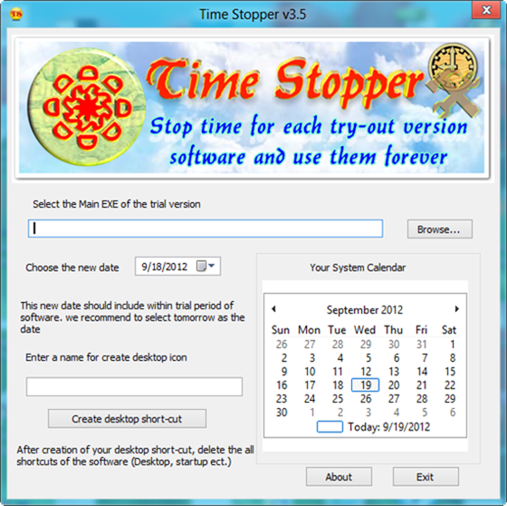 Time-Stopper Extend Software Trial Period