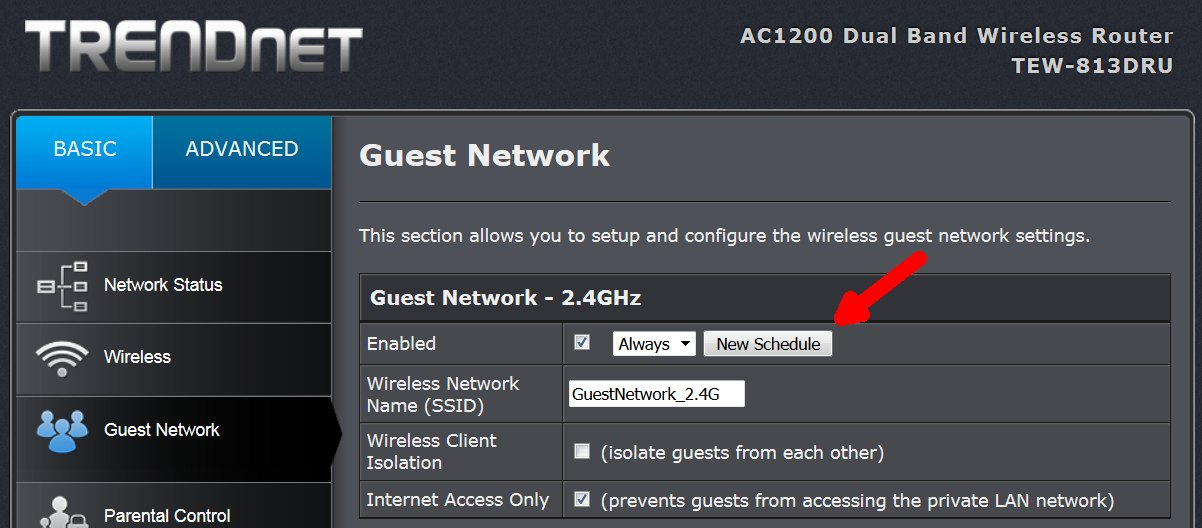 Turn off Guest Network