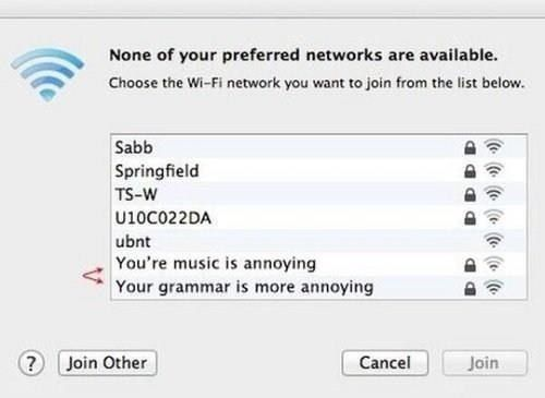 WiFi names Funny