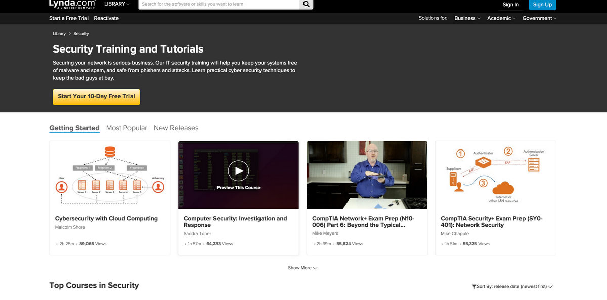 Lynda- Security Video Tutorials