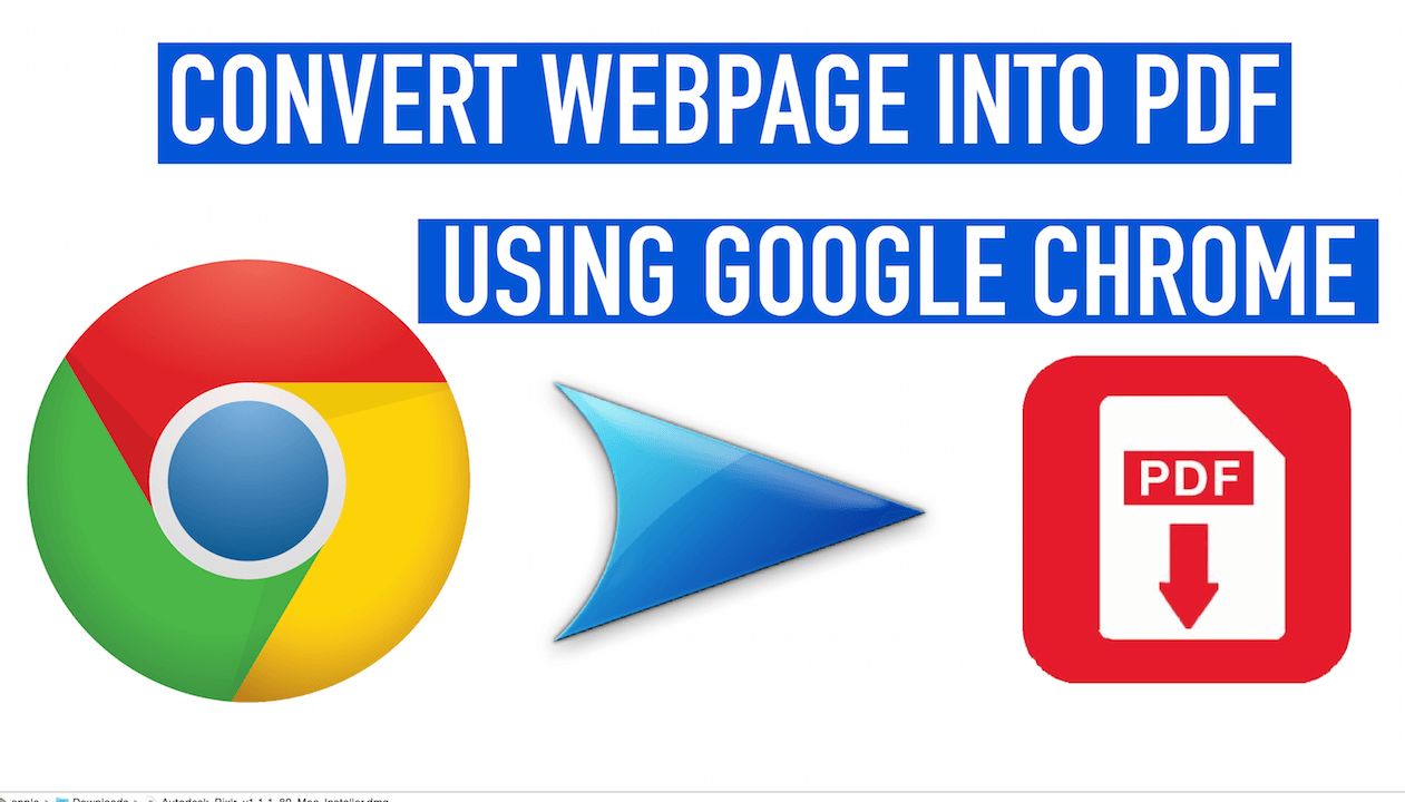 How To Save Whole Web Page As Pdf In Google Chrome Without Any Extension To  Save