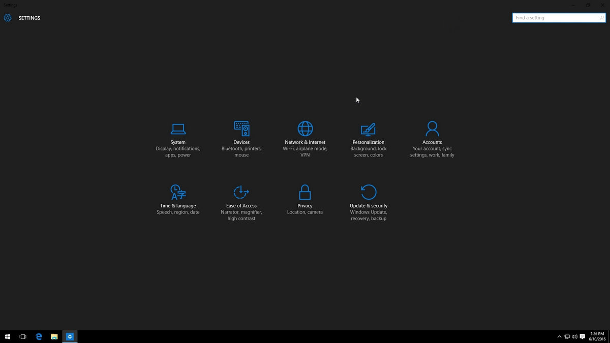 Dark Mode Window 10 Settings