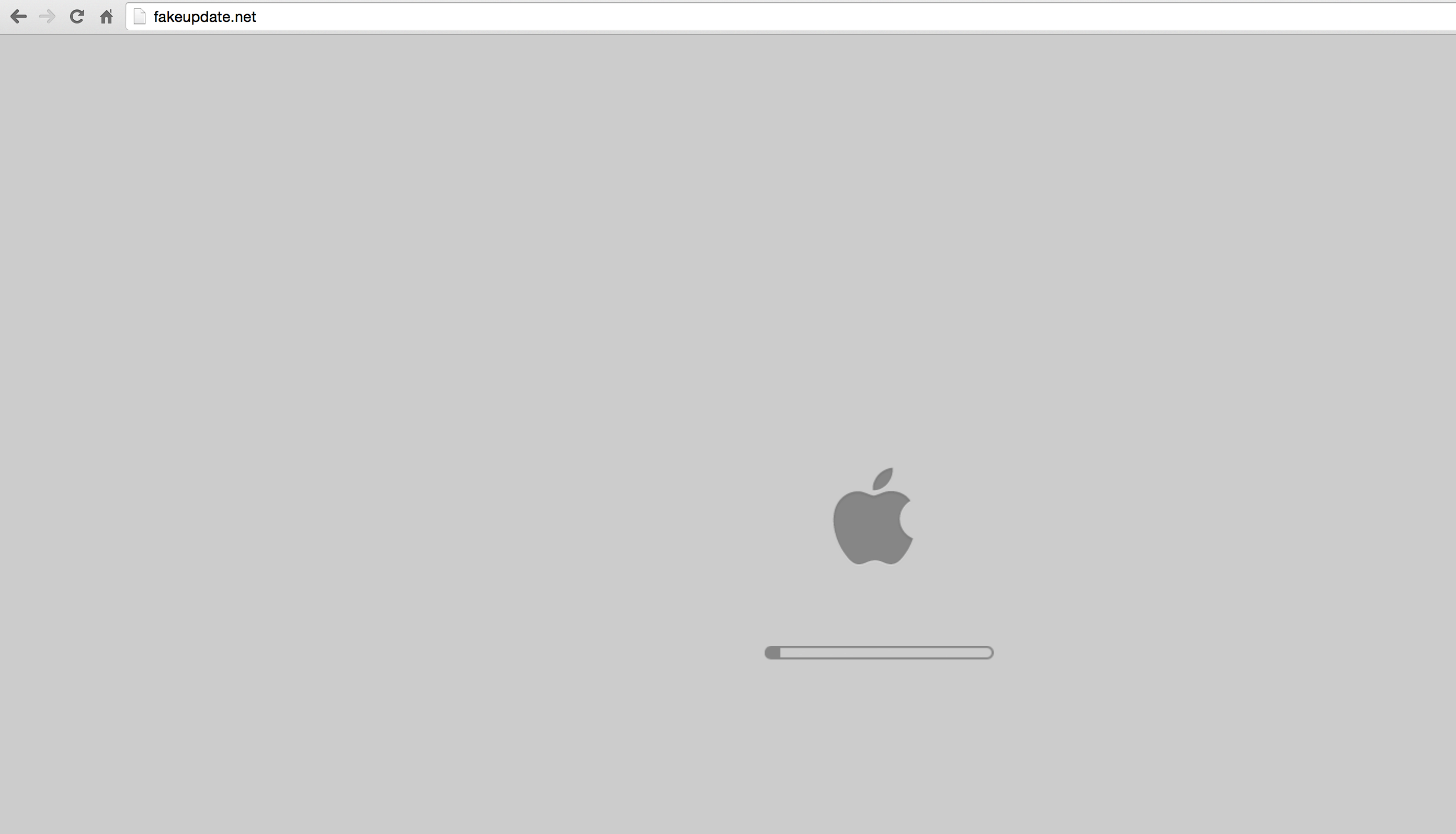 Fake Mac Update from PC Browser