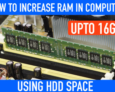 How to Increase RAM in PC upto 16GB+ using HDD Space
