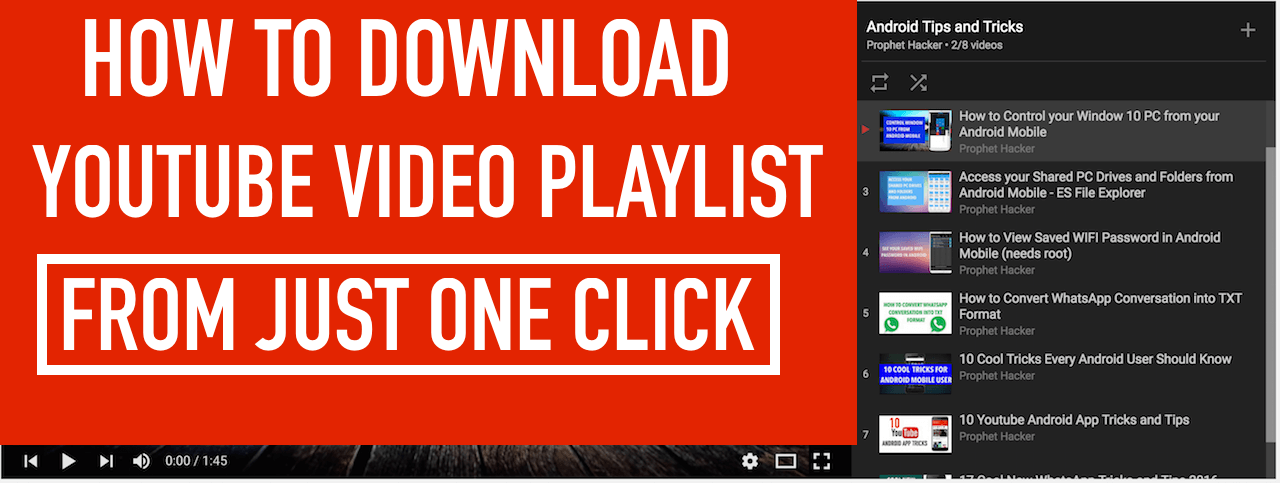 How to download whole youtube videos playlist in just one click ccuart Gallery