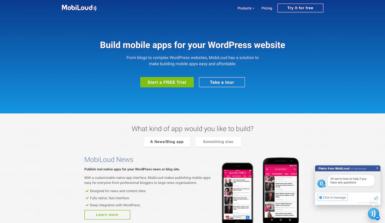 Mobiloud build mobile apps for your wordpress website without coding