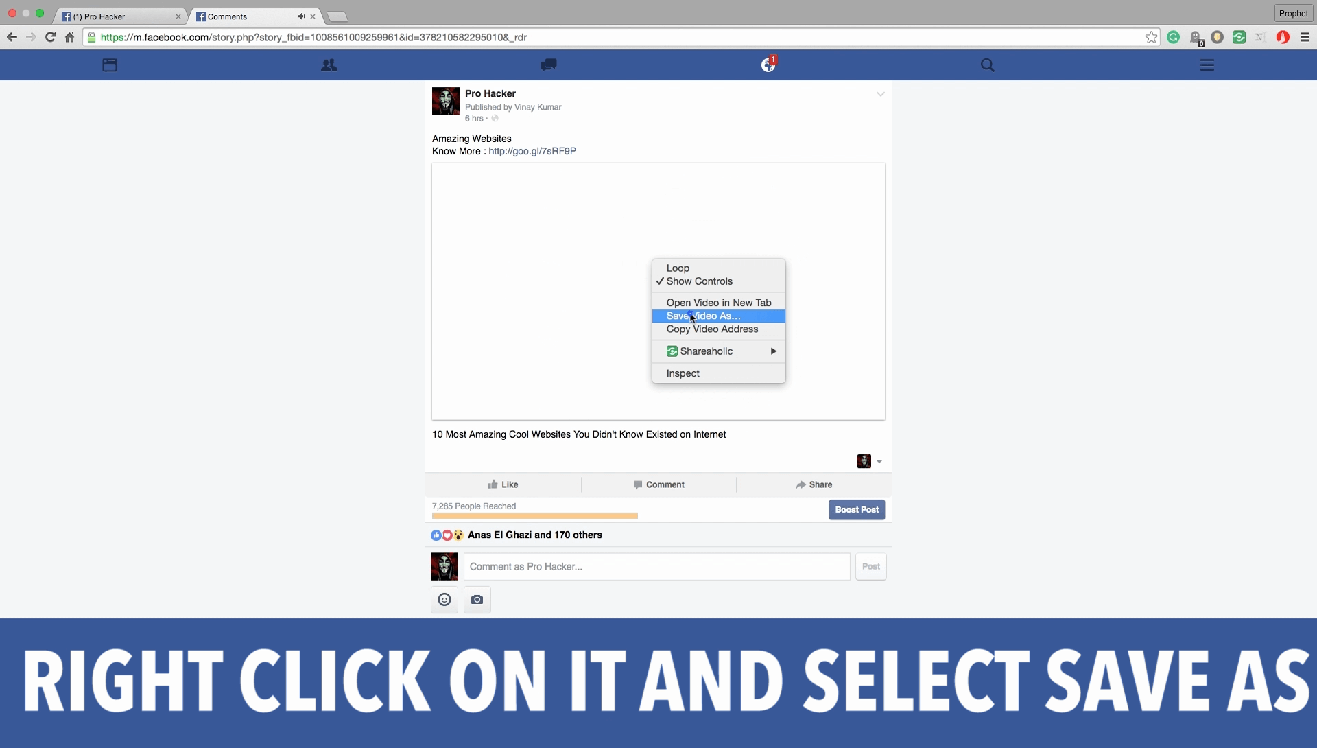 how to watch saved videos on facebook
