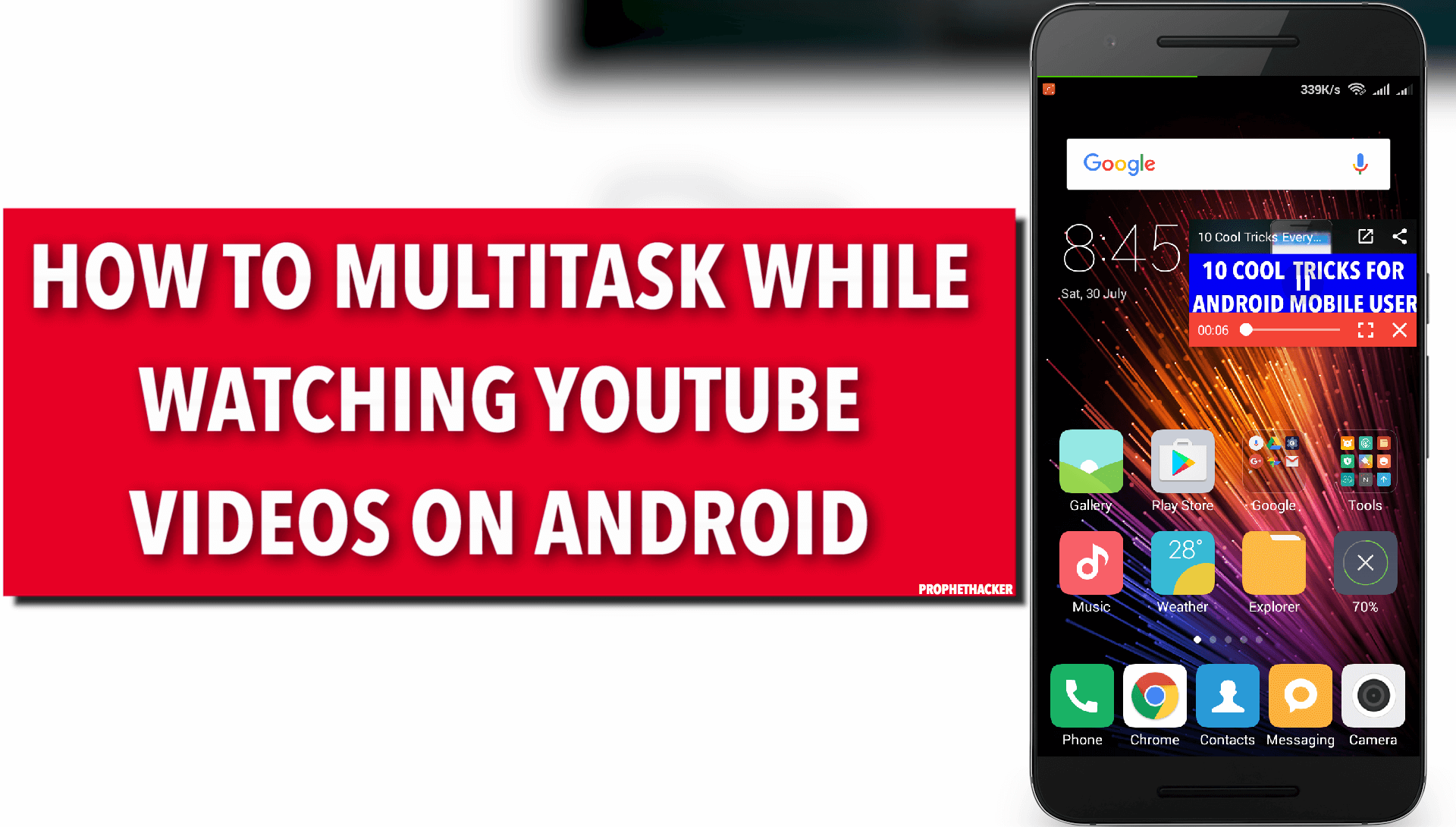 How to Multitask while watching Youtube Videos on Android