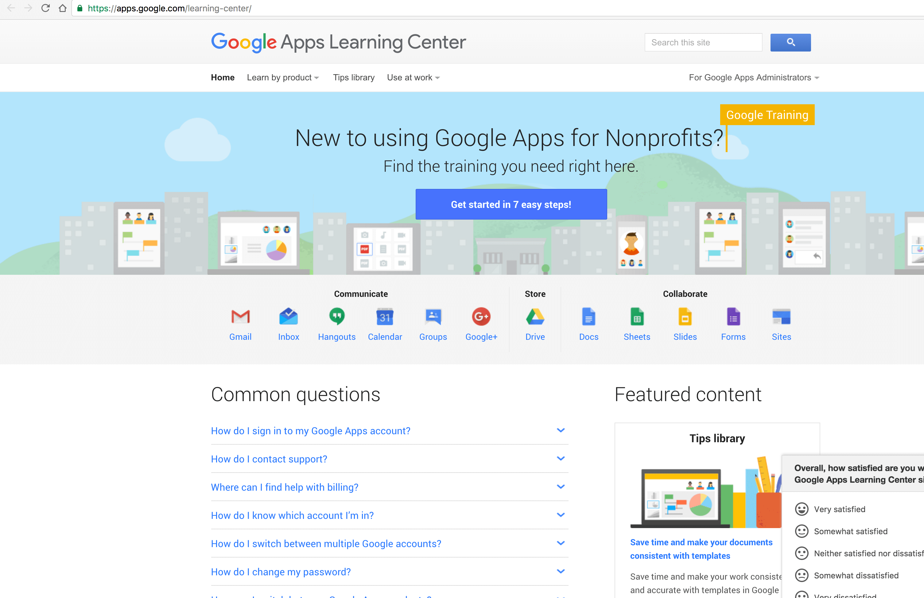 Google Apps Training Center