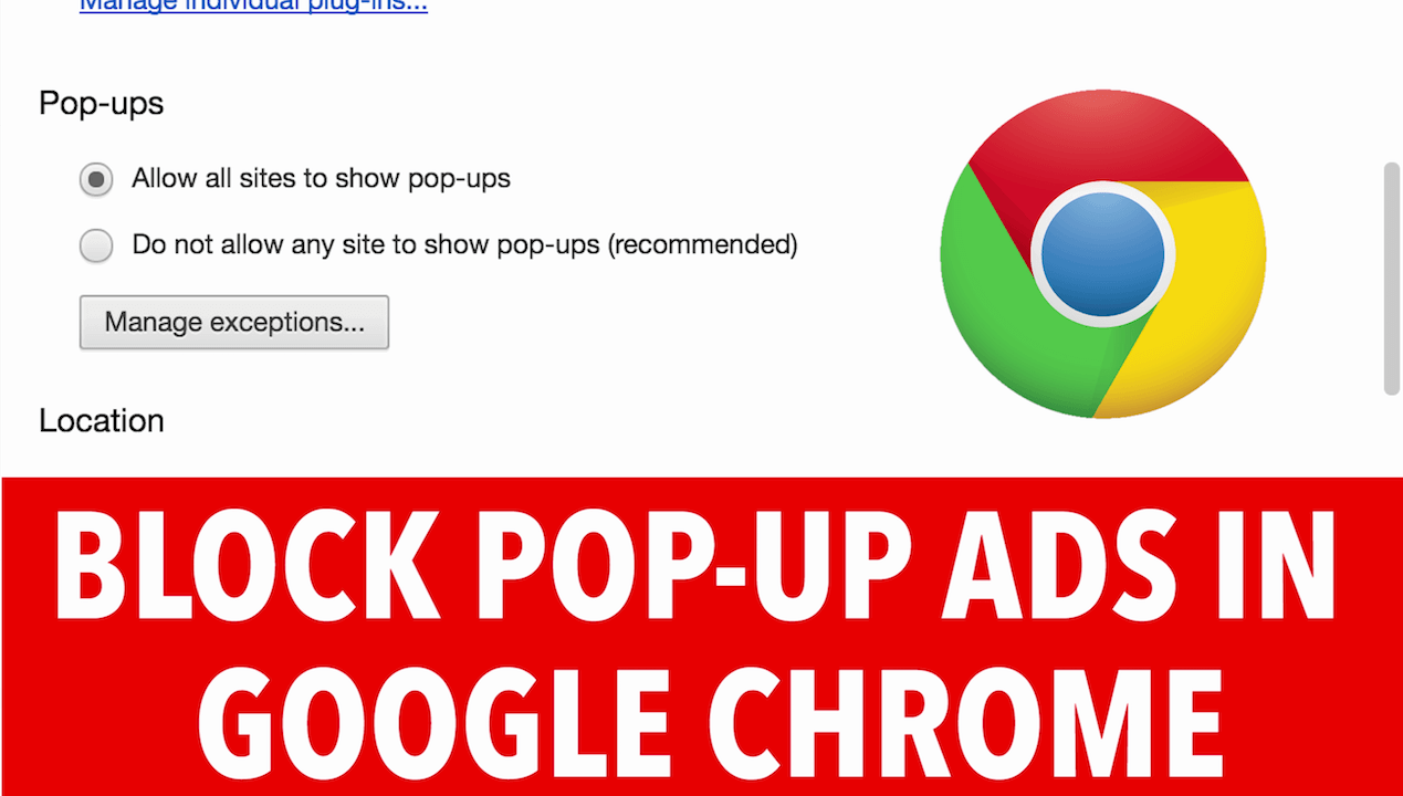 How To Block Pop Ups Ads In Google Chrome Browser