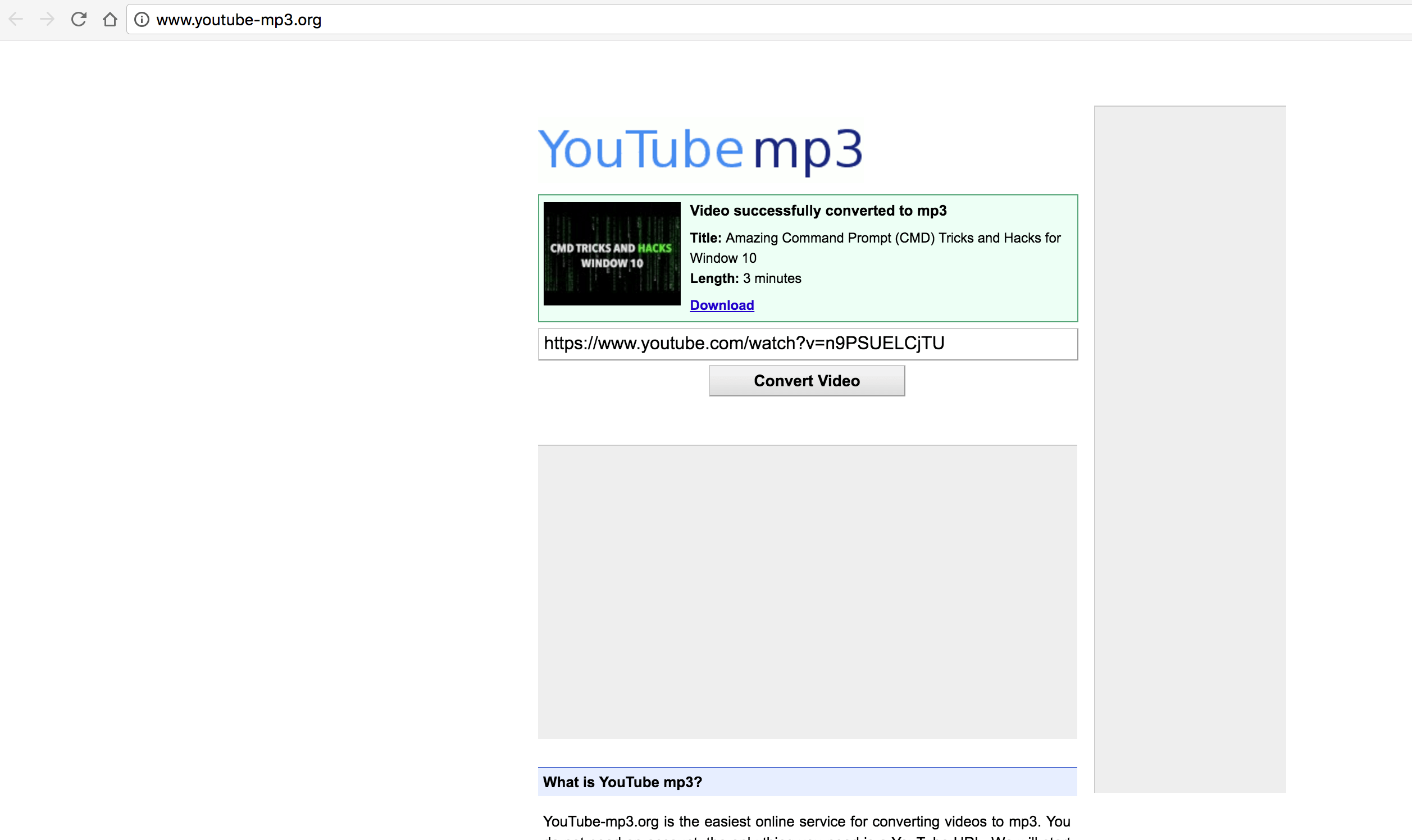 Download Audio from Youtube Video