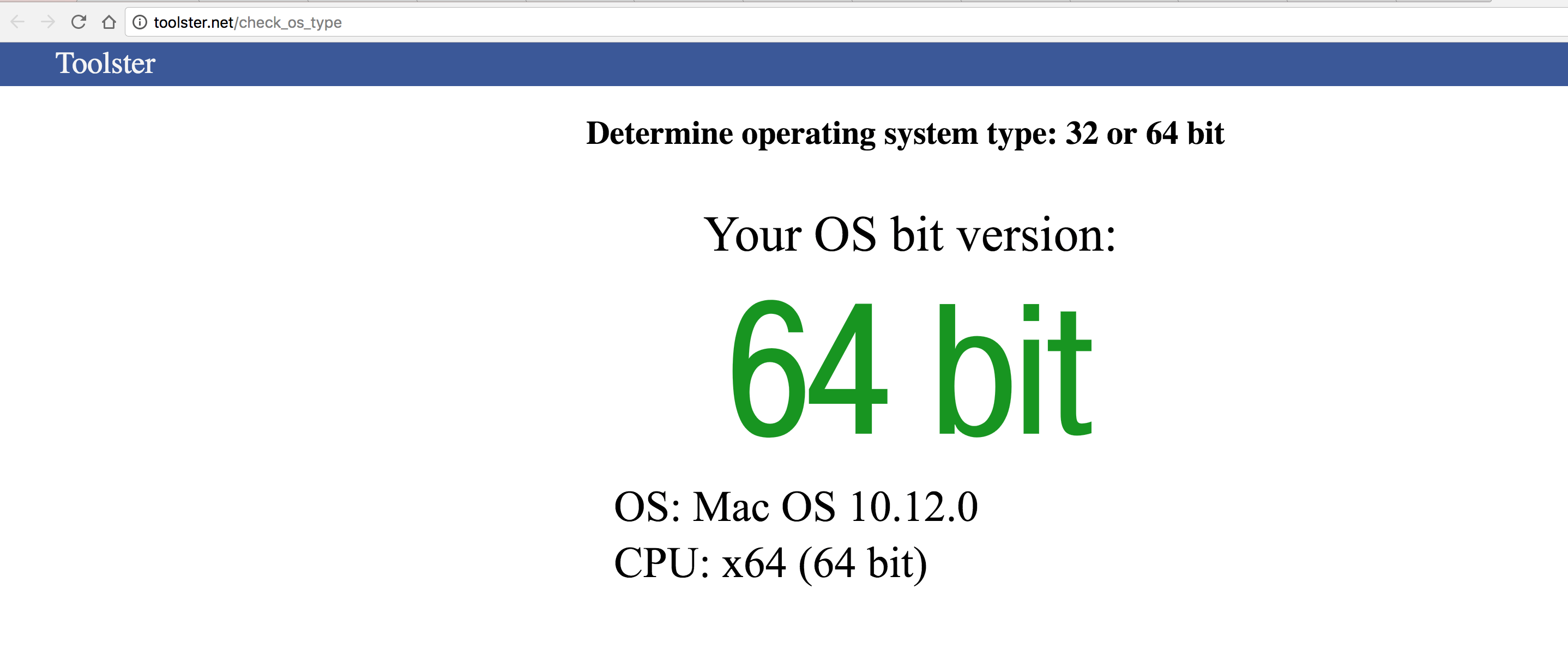 Know your OS type