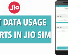 How to Set Data Usage Alerts Jio Sim Phone
