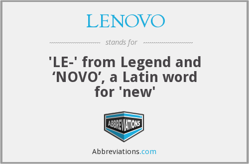 Lenovo Full Form