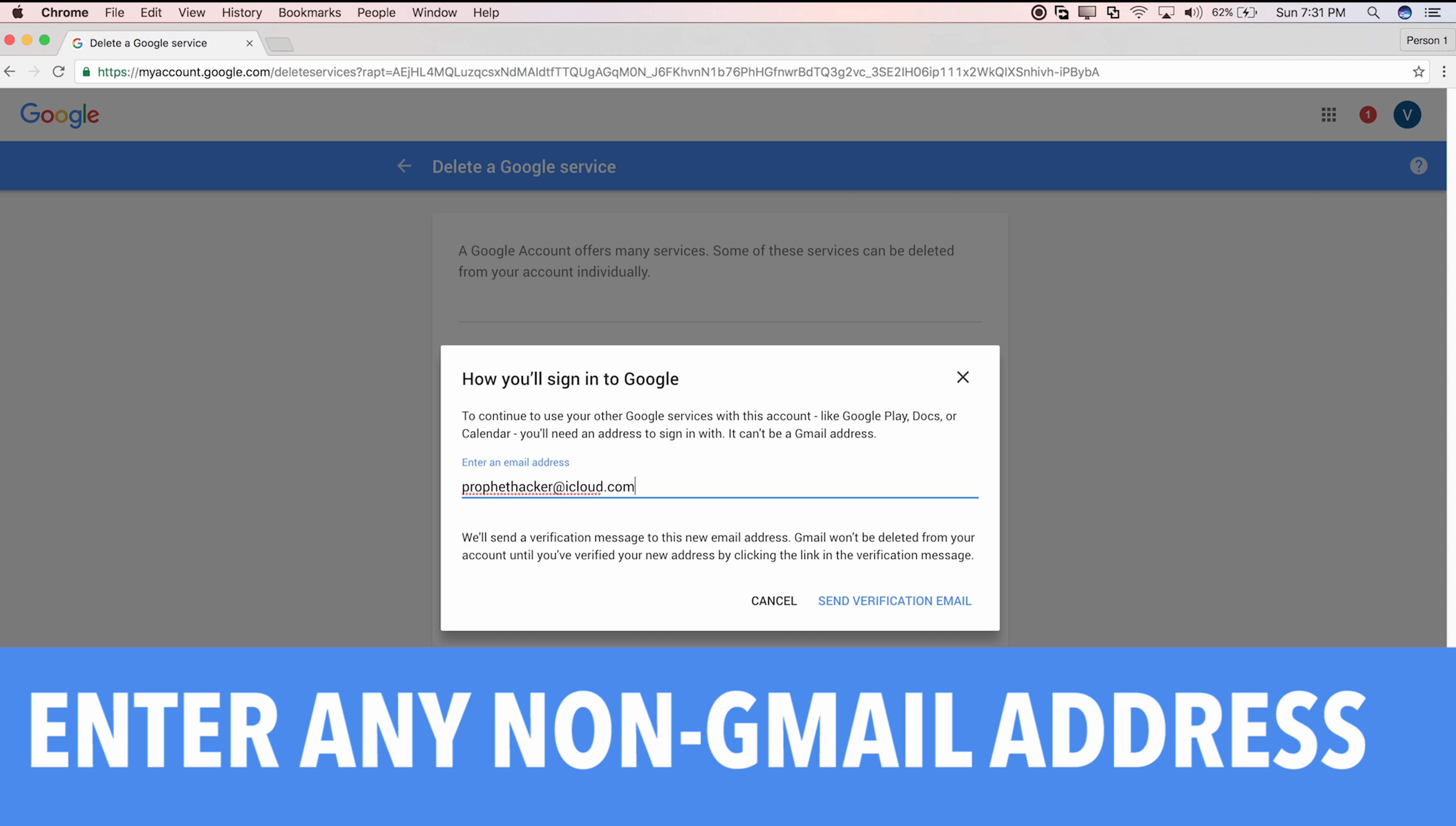 Enter Primary Email Address