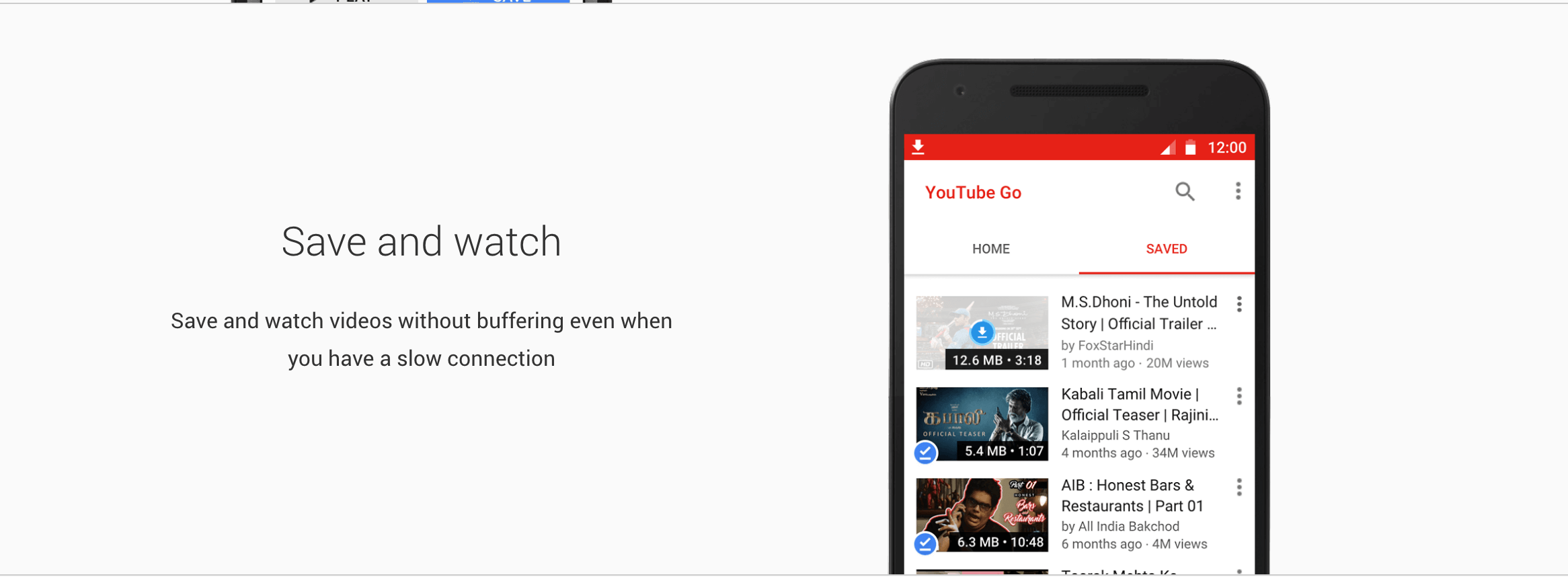 Youtube Go Features