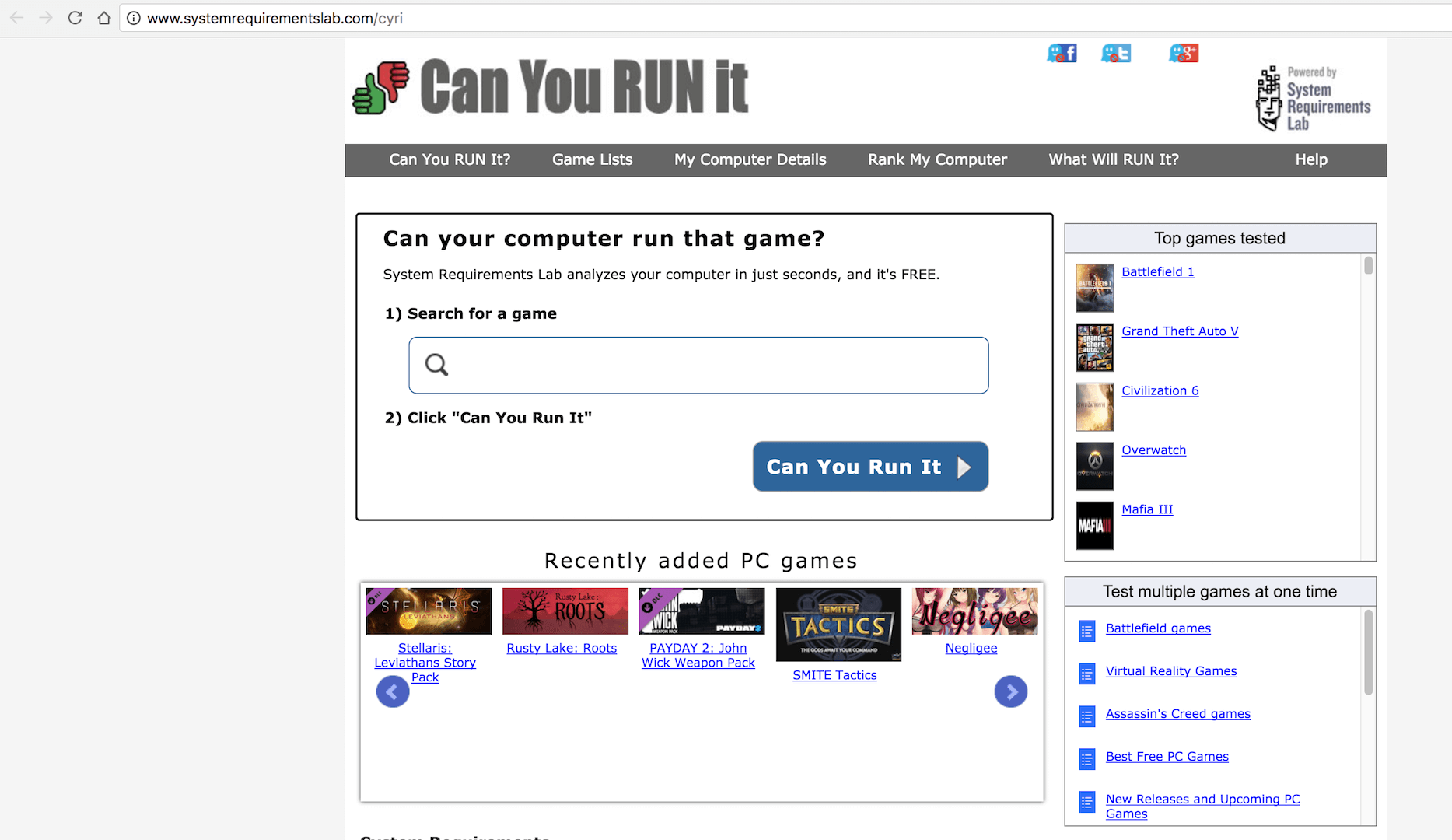 Can you Run it Website