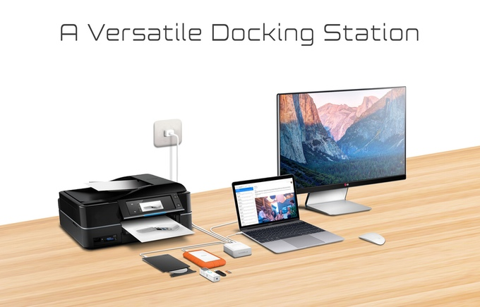 Marble: A Portable 2-in-1 USB-C Docking & Charging Station