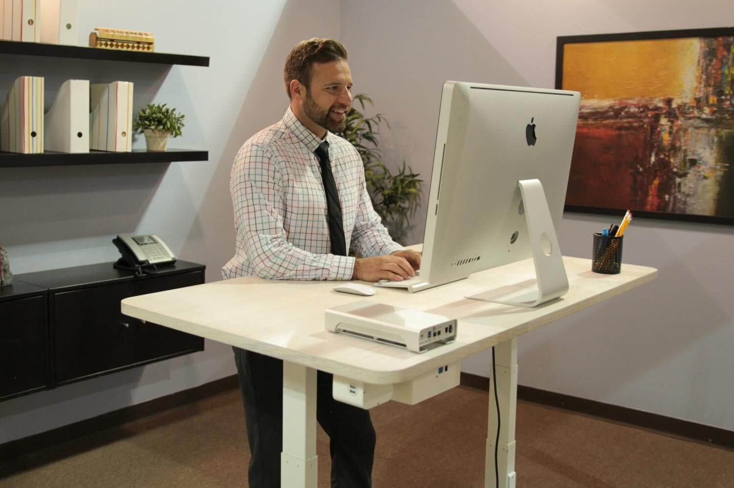 SMART STANDING DESK: World's Best Sit-Stand Desk