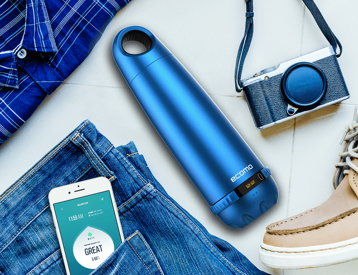 Ecomo: The World's First Bottle That Tests & Filters Water