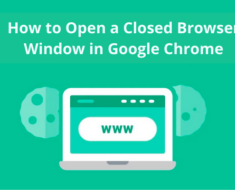 How to Open a Closed Browser Window in Google Chrome